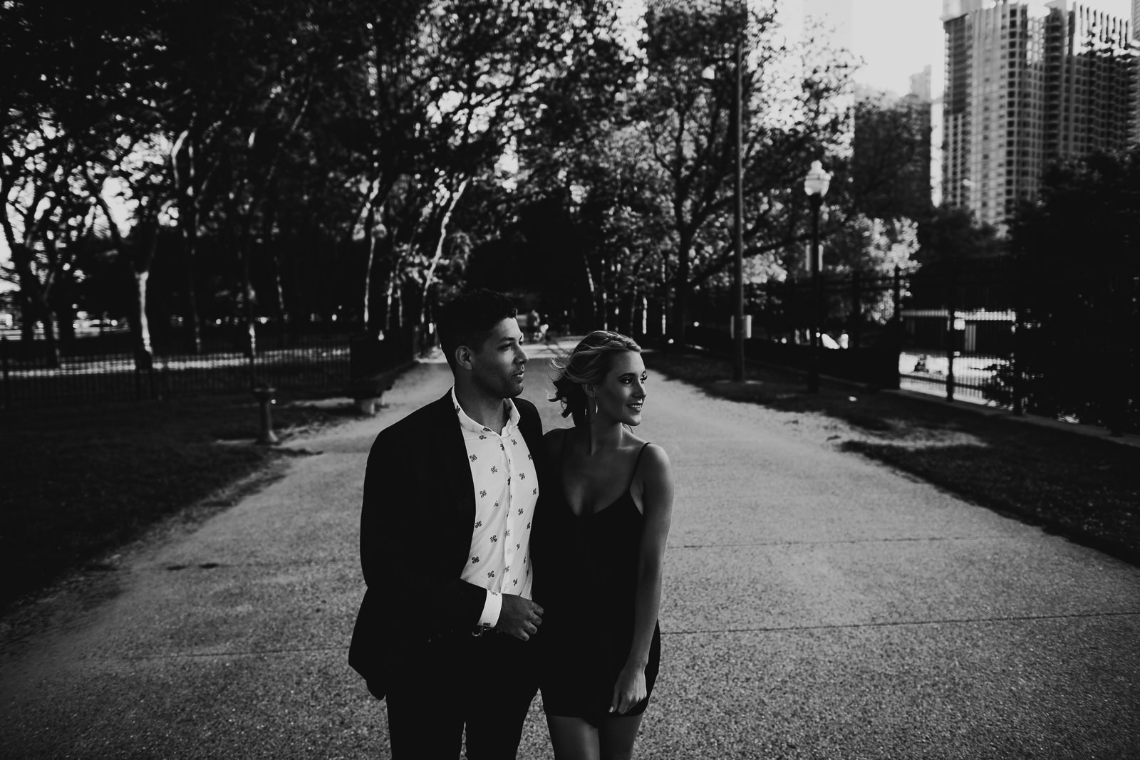 01 milton lee park black and white - Milton Lee Olive Park Surprise Proposal // Chris + Emma