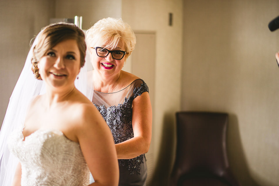 15 bride and mom - Harold Washington Library Wedding Photos // Kasia + Chris