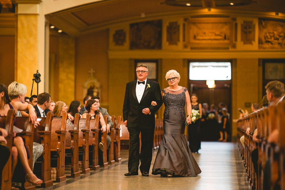 31 bride mom walking down the isle - Harold Washington Library Wedding Photos // Kasia + Chris