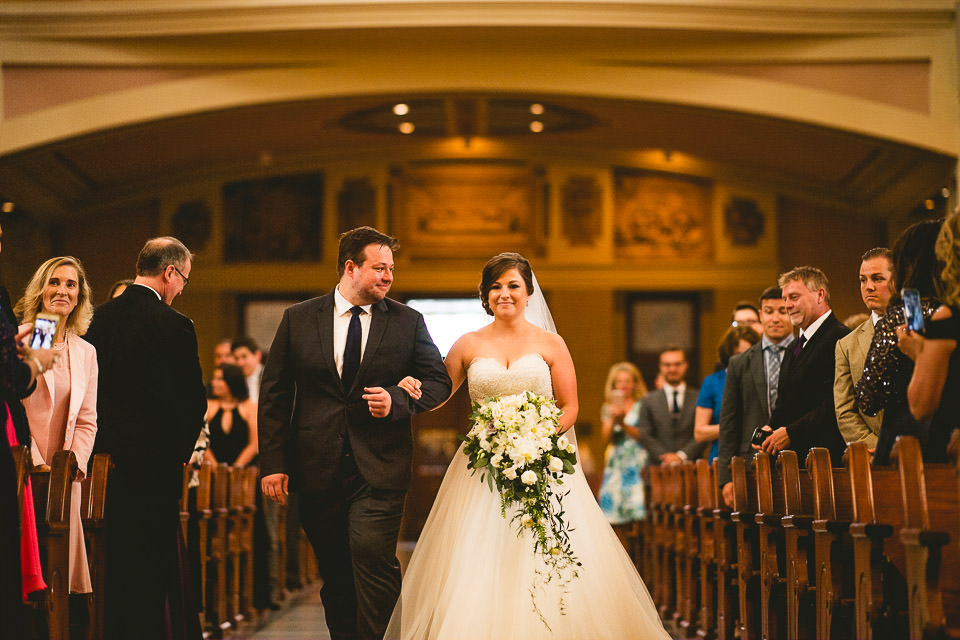 33 bride walking down the isle - Harold Washington Library Wedding Photos // Kasia + Chris