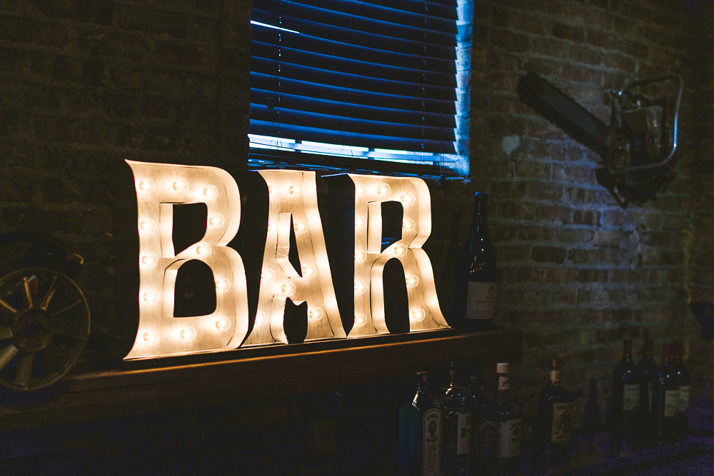 43 tragas custom builds bar sign - Haight Wedding Photography // Kelly + Charlie