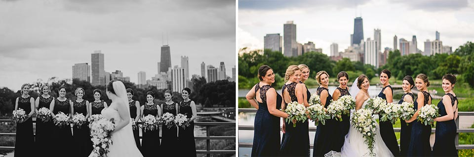 49 bridal party photos in chicago - Harold Washington Library Wedding Photos // Kasia + Chris