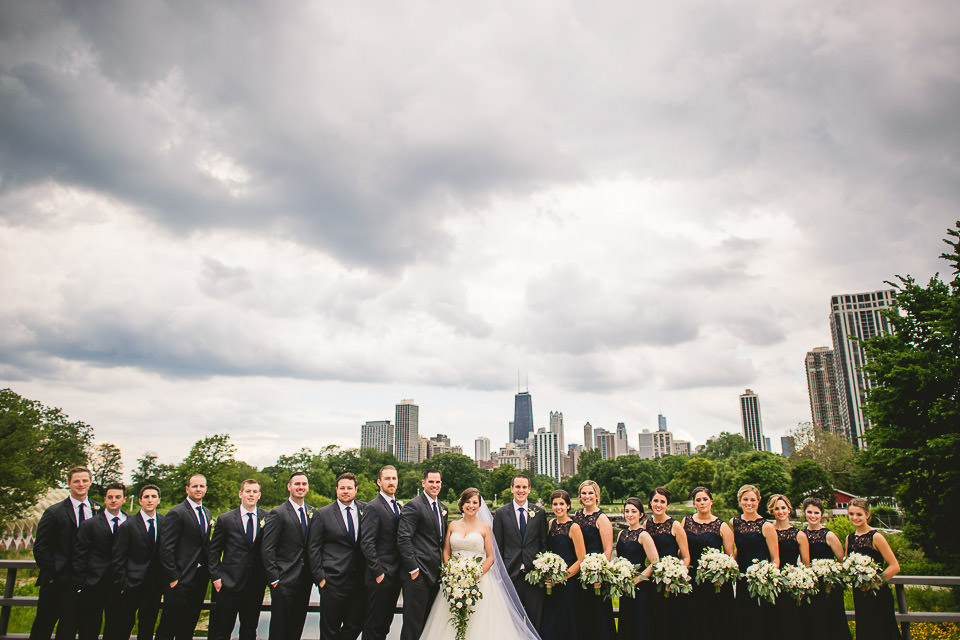 53 bridal party photography - Harold Washington Library Wedding Photos // Kasia + Chris