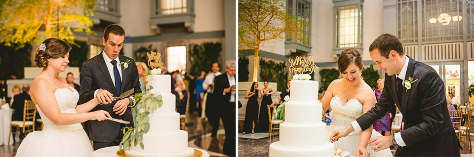 84 harold washington library wedding cake cutting - Harold Washington Library Wedding Photos // Kasia + Chris
