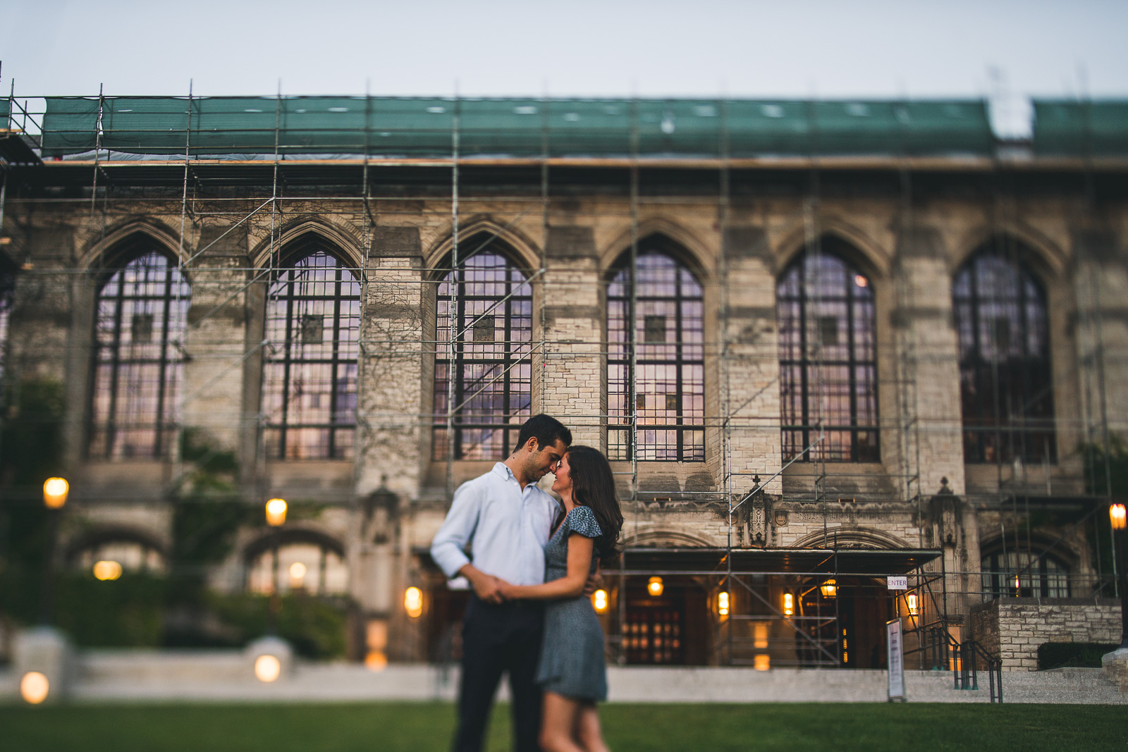 13 northwestern university engagement deering library - Northwestern Engagement Photos // Emma + Francesco