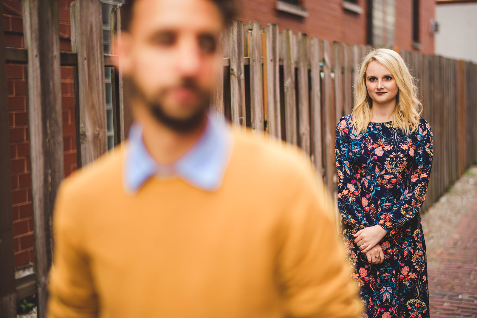 02 chicago engagement pics - Wes Anderson Inspired Engagement Session in Wicker Park // Kelsey + Mark