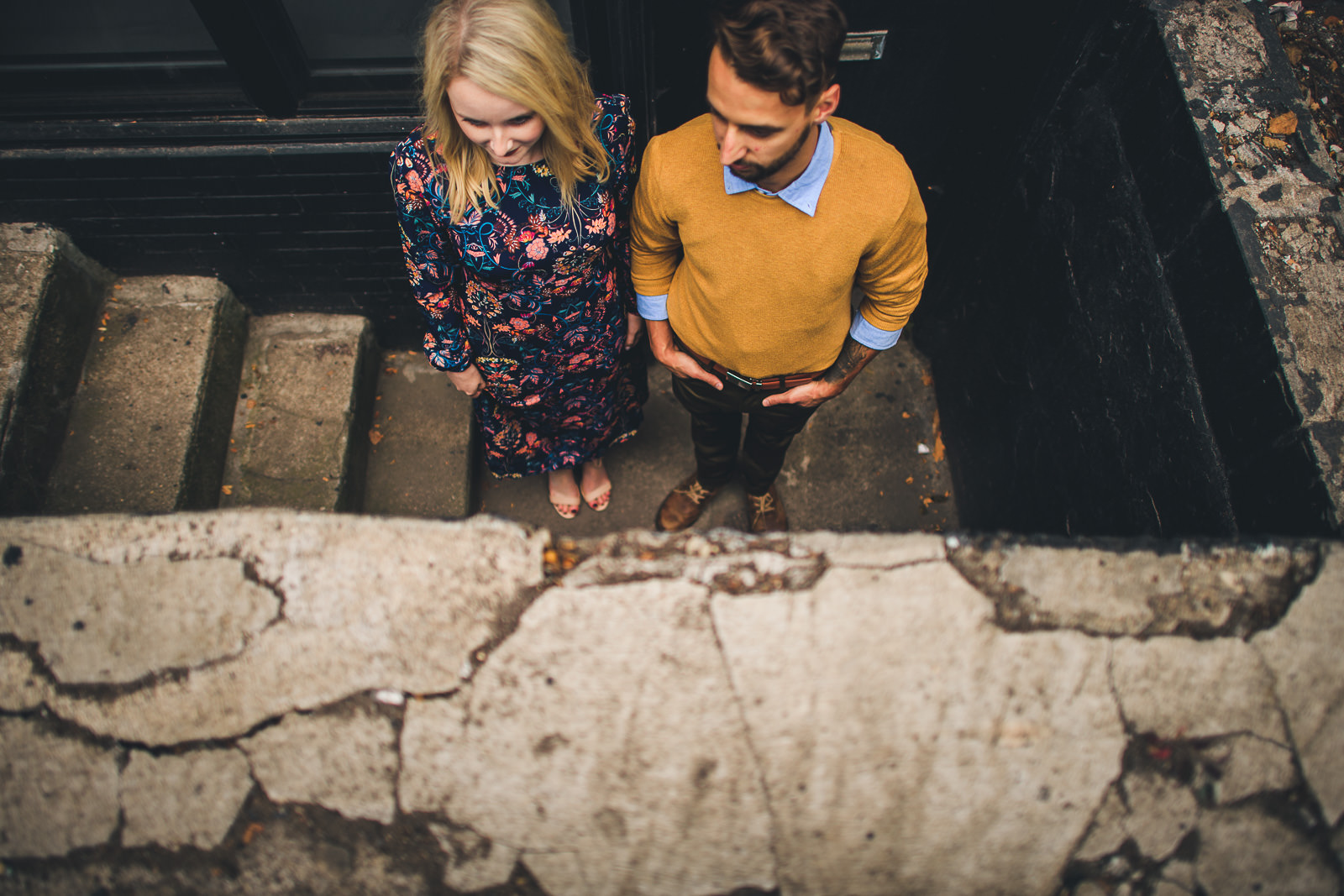 06 werid engagement photos - Wes Anderson Inspired Engagement Session in Wicker Park // Kelsey + Mark