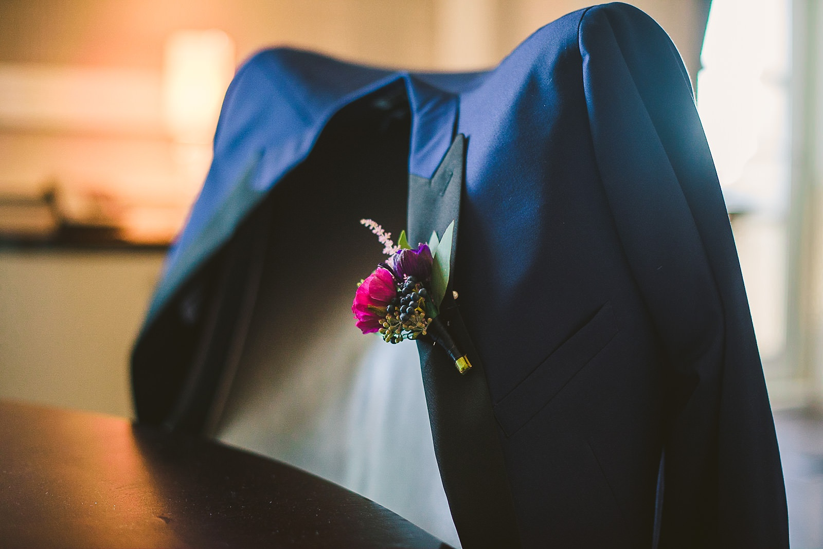 08 grooms jacket - Hilton Chicago Wedding Photographer // Sarah + Aaron