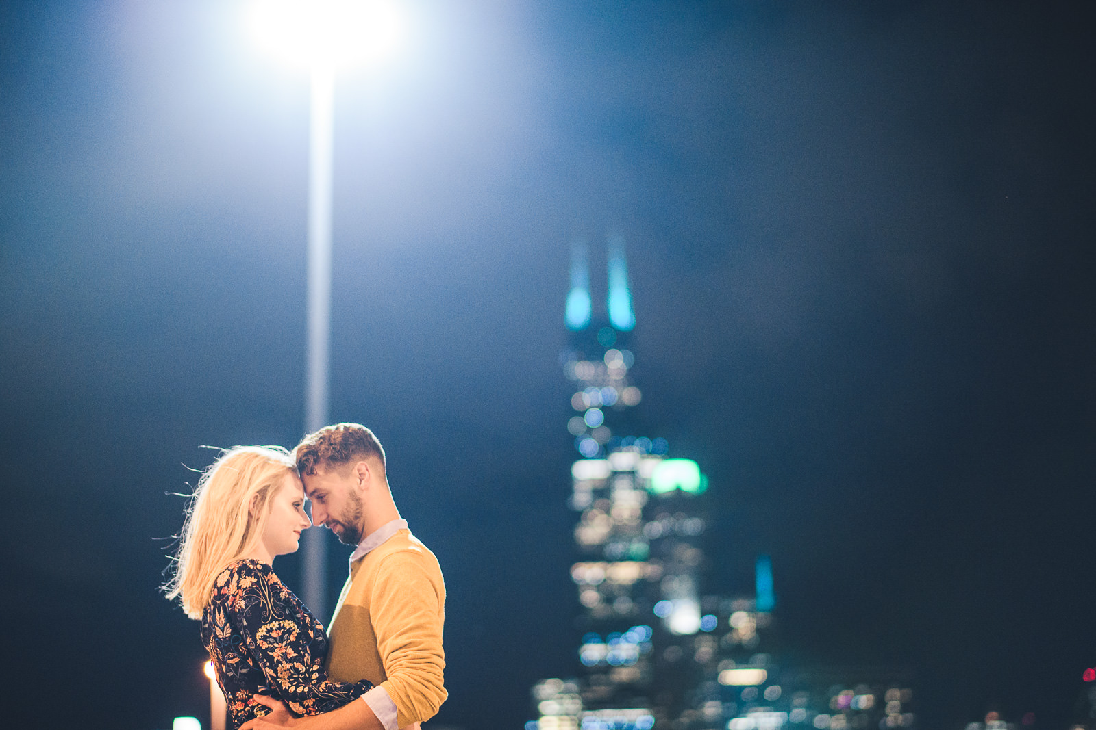 14 best night engagement photos in chicago - Wes Anderson Inspired Engagement Session in Wicker Park // Kelsey + Mark