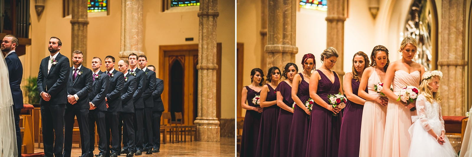 33 bridal party at church - Hilton Chicago Wedding Photographer // Sarah + Aaron