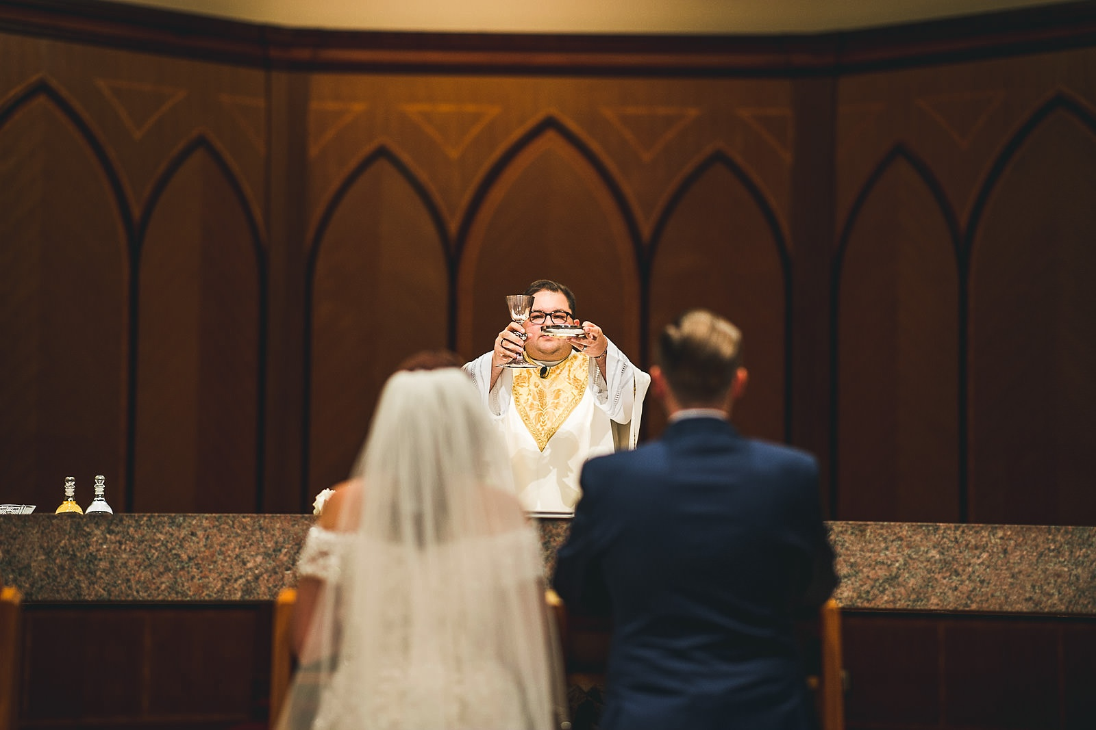 37 church blessing - Hilton Chicago Wedding Photographer // Sarah + Aaron