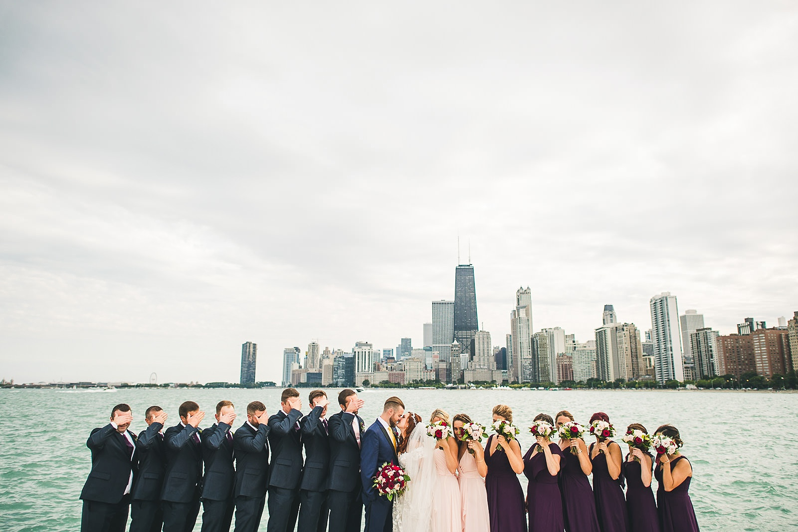 44 big bridal party photo - Hilton Chicago Wedding Photographer // Sarah + Aaron