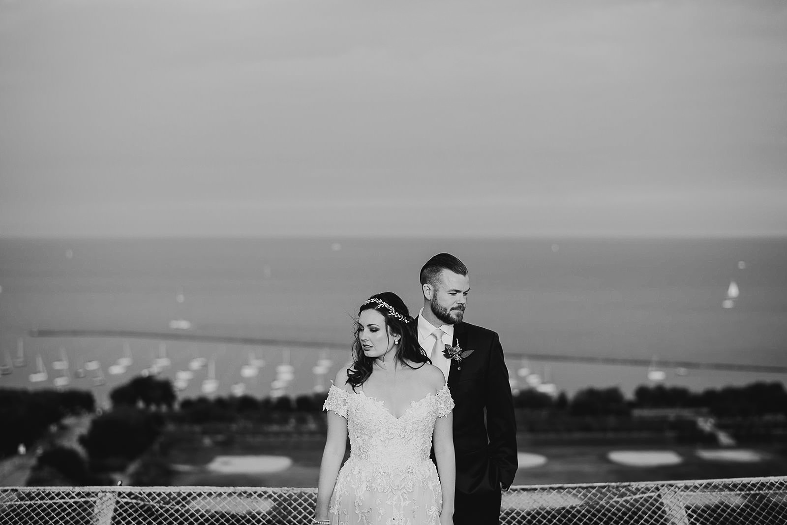 49 black and white chicago wedding photos - Hilton Chicago Wedding Photographer // Sarah + Aaron
