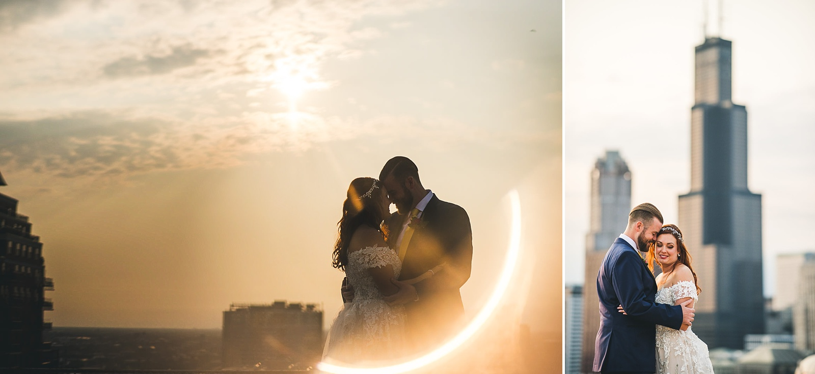 52 wedding photos on top of hilton helipad - Hilton Chicago Wedding Photographer // Sarah + Aaron