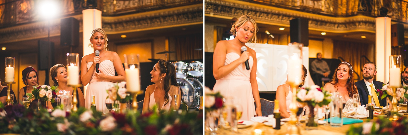 63 sister gives an amazing speech - Hilton Chicago Wedding Photographer // Sarah + Aaron