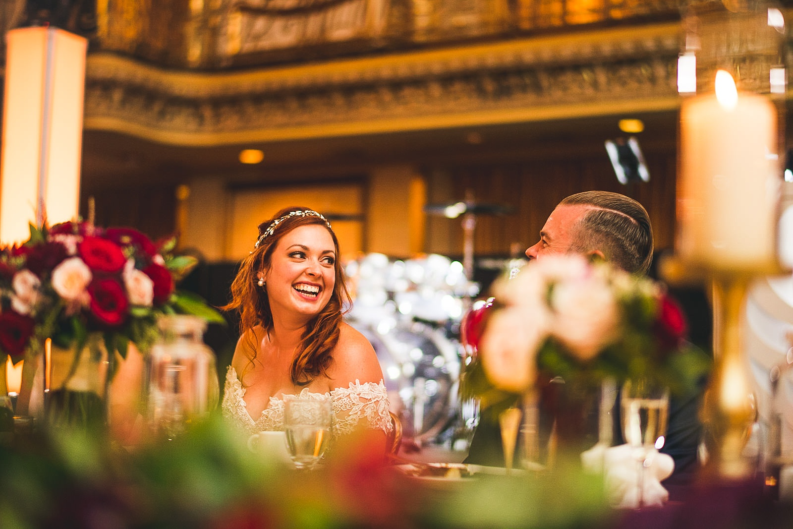 64 great speeches makes bride smile - Hilton Chicago Wedding Photographer // Sarah + Aaron
