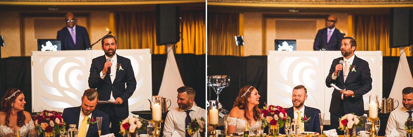 65 best man speech at hilton wedding - Hilton Chicago Wedding Photographer // Sarah + Aaron