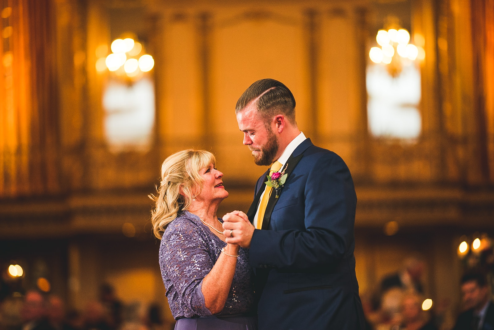 72 mom and groom dancing and crying - Hilton Chicago Wedding Photographer // Sarah + Aaron