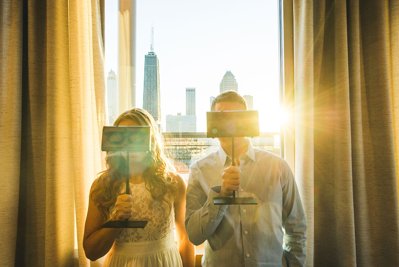 07 creative engagement photography - Rooftop Chicago Engagement Session // Aubyn + Danny