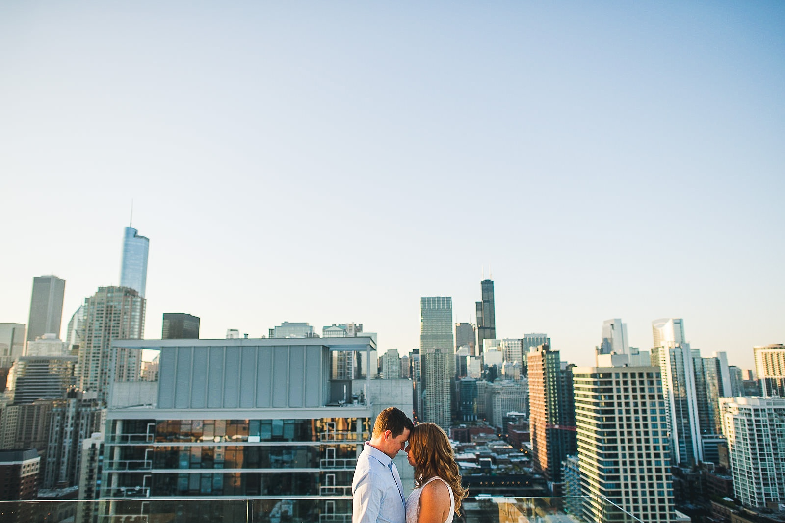 08 chicago rooftop engagement photos - Rooftop Chicago Engagement Session // Aubyn + Danny