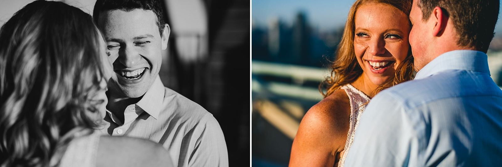 11 direct sun engagement photos - Rooftop Chicago Engagement Session // Aubyn + Danny