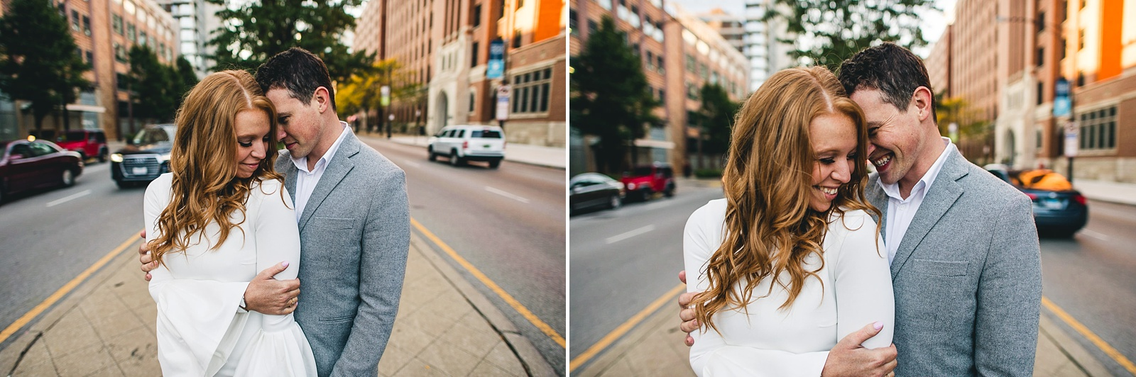 17 chicago engagement photos - Rooftop Chicago Engagement Session // Aubyn + Danny