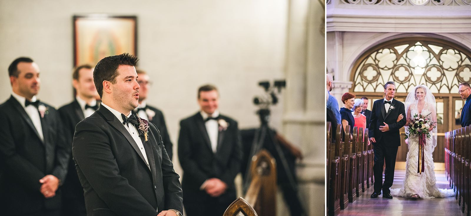 25 groom sees bride for the first time - Chicago Drake Hotel Wedding // Corie + Jordan
