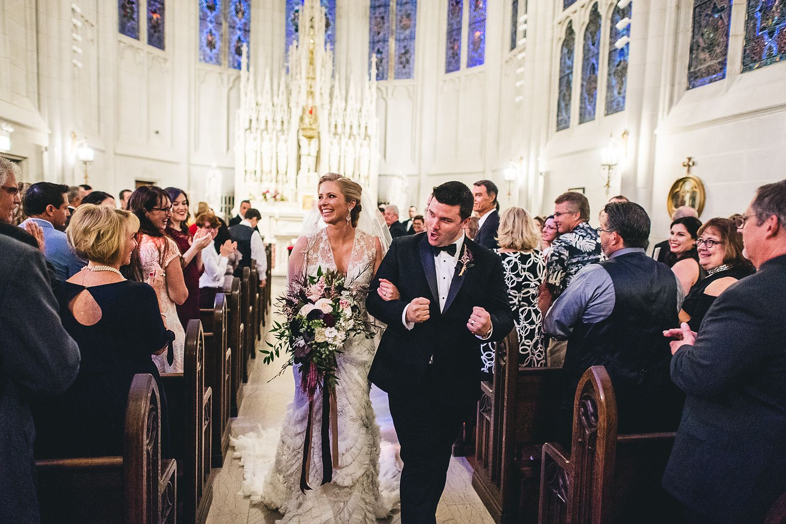 29 bride and groom married at st james chapel in chicago - Chicago Drake Hotel Wedding // Corie + Jordan