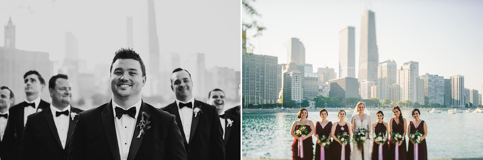 40 bridal party photos at olive park - Chicago Drake Hotel Wedding // Corie + Jordan