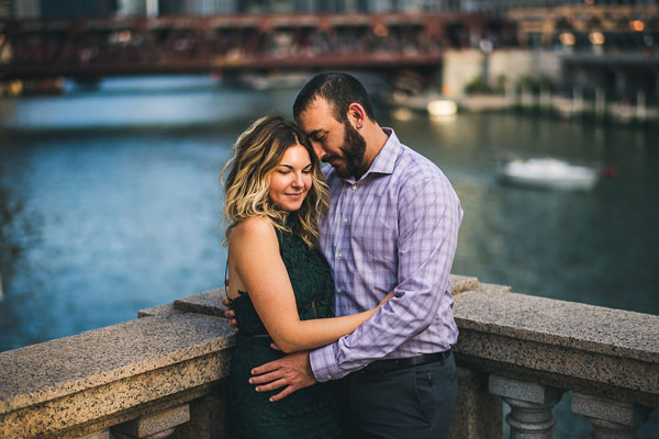 Chicago Engagement Photos // Beth + Anthony