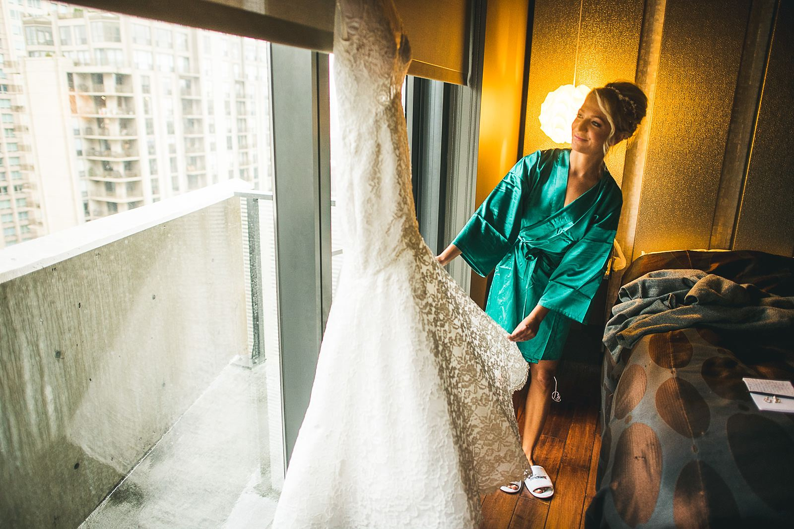 08 bride checking dress - Ivy Room Wedding // Audrey + Tyler