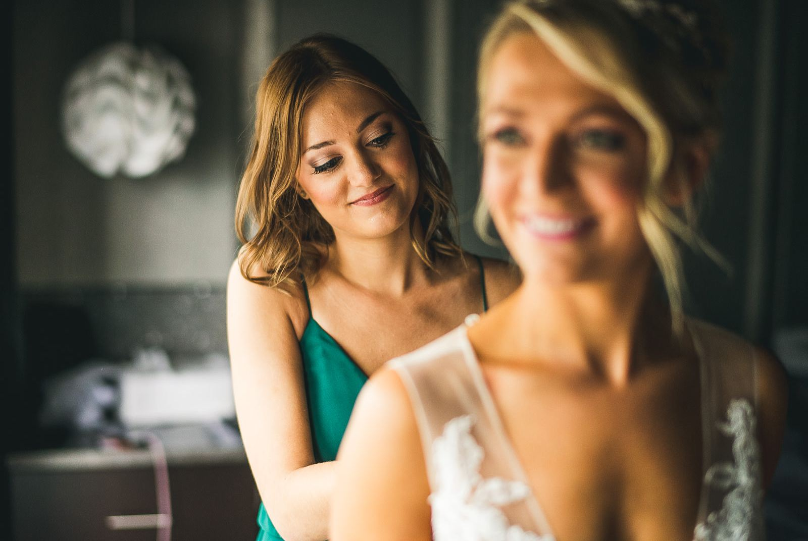 10 bride putting on dress - Ivy Room Wedding // Audrey + Tyler