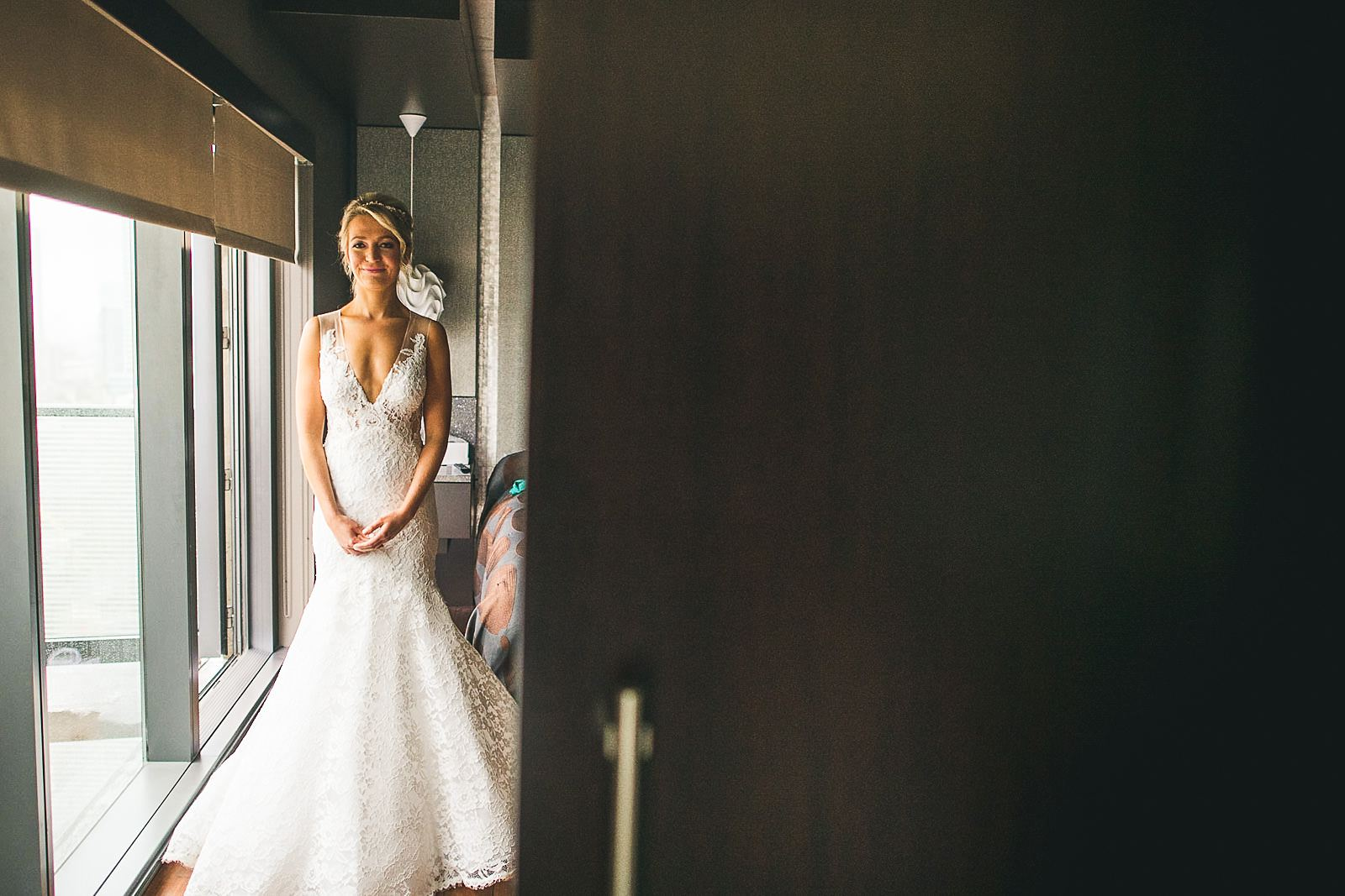 12 bride in hotel room - Ivy Room Wedding // Audrey + Tyler