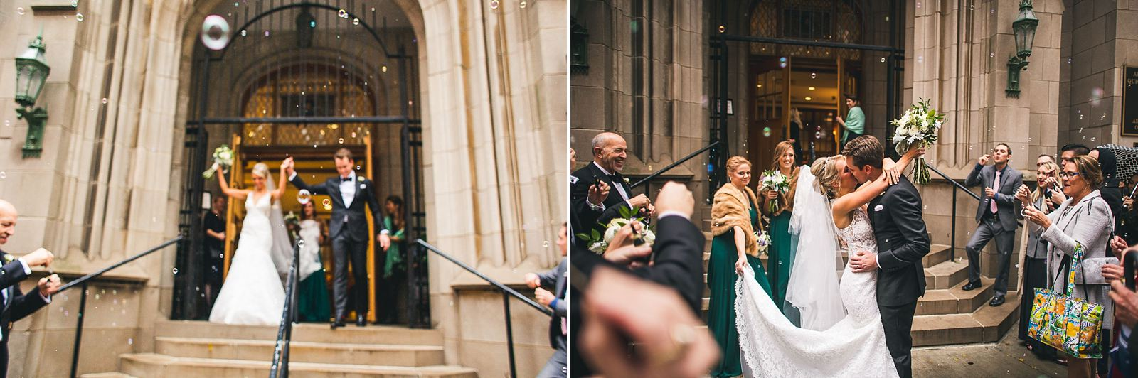 28 kissing outside church - Ivy Room Wedding // Audrey + Tyler