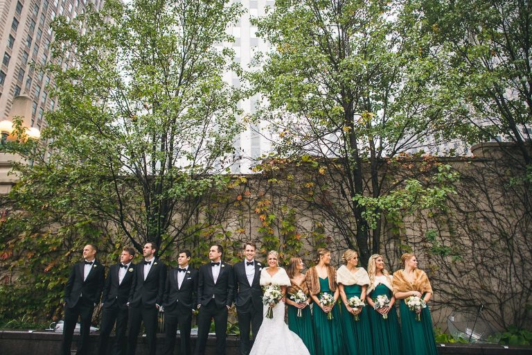 34 full bridal party wedding photos