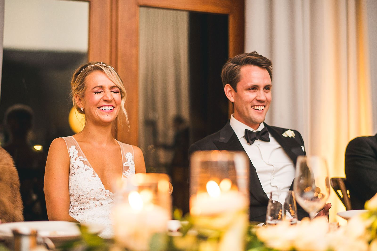 55 bride and groom reactions to speeches - Ivy Room Wedding // Audrey + Tyler