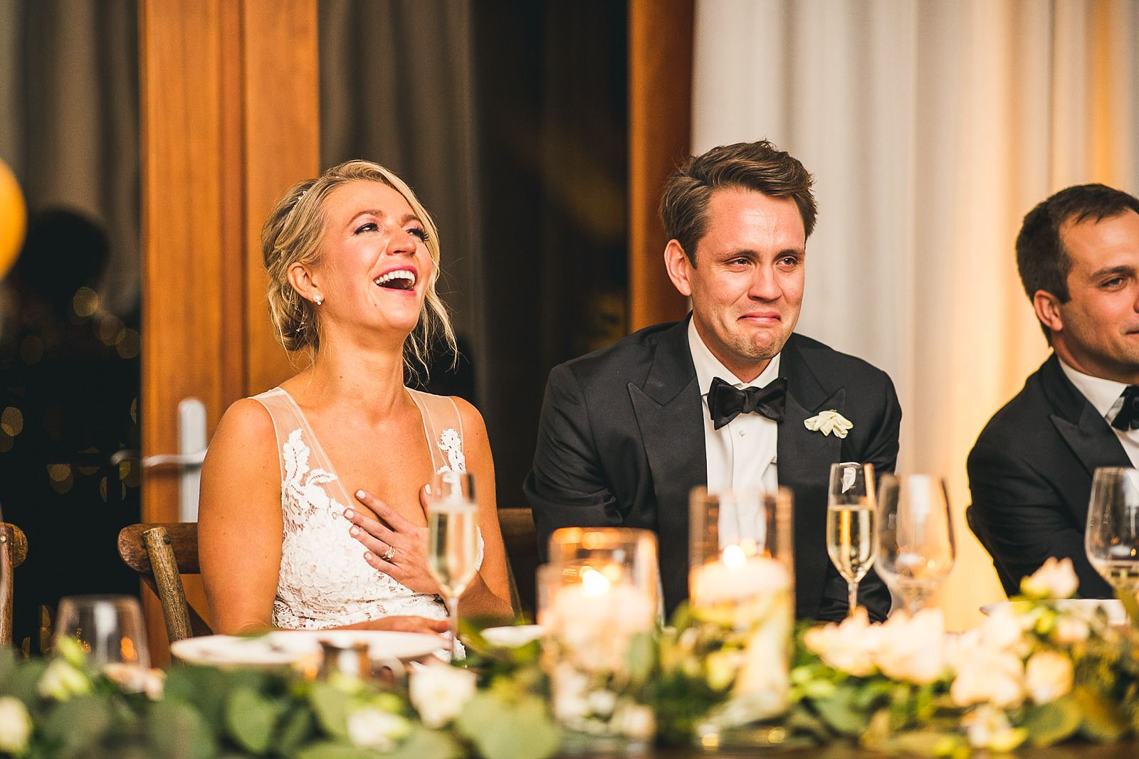 57 groom crying bride laughing - Ivy Room Wedding // Audrey + Tyler