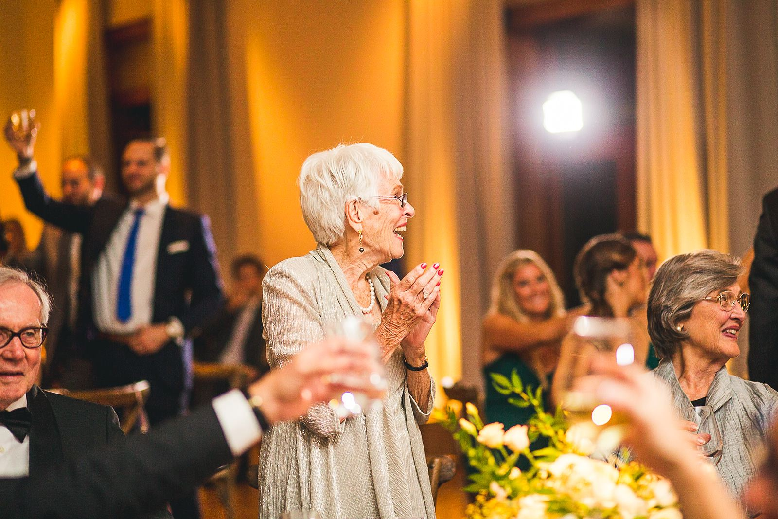 58 grandma clapping - Ivy Room Wedding // Audrey + Tyler