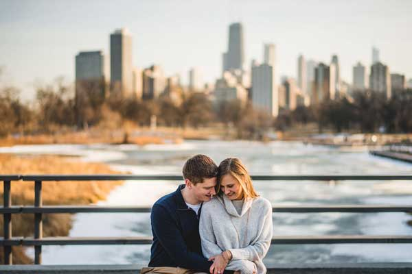 Chicago Engagement Photos // Katie + Nick