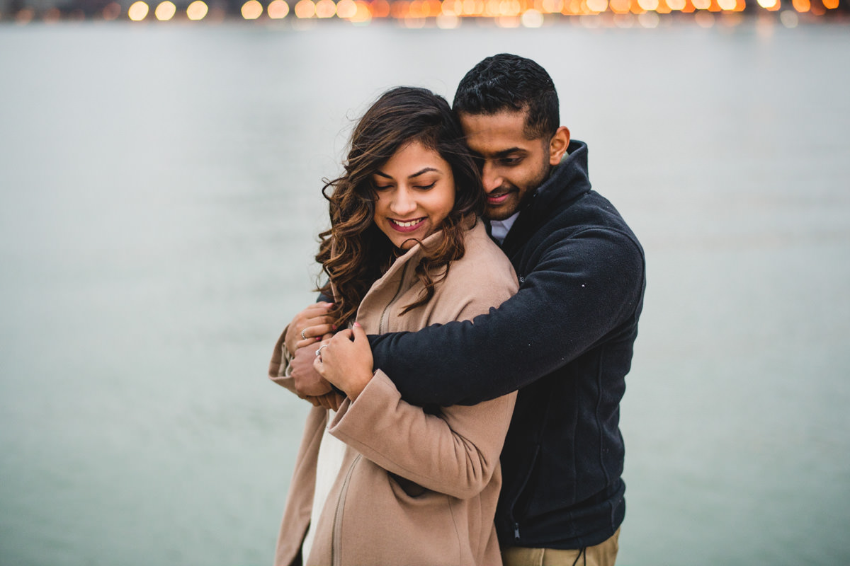 04 winter engagement session - Winter Engagement Session in Chicago // Steve + Jasa