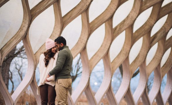 05 chicago winter engagement session photos
