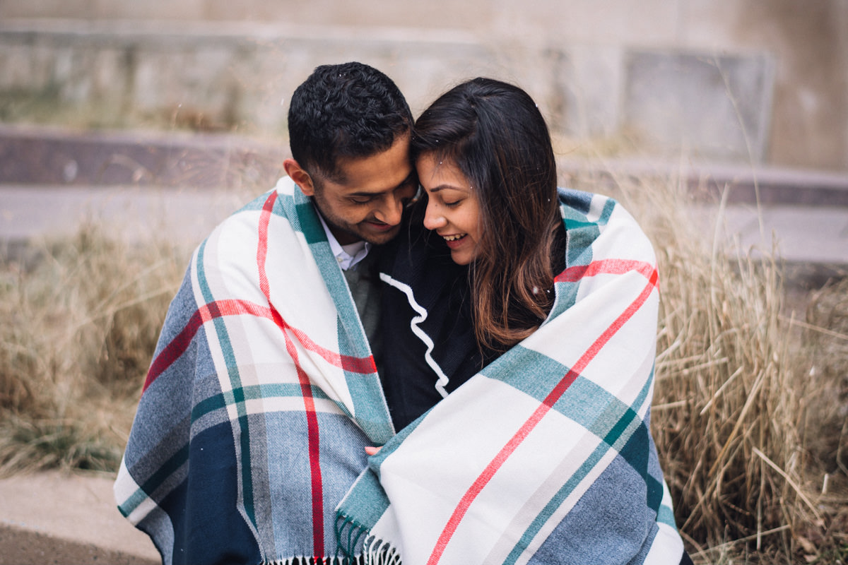 06 chicago engagement inspiration winter - Winter Engagement Session in Chicago // Steve + Jasa