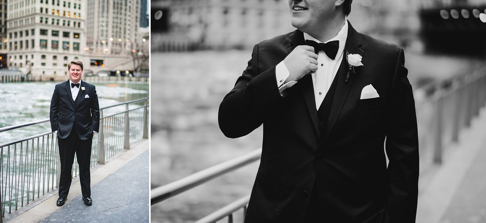 14 handsome groom - Drake Chicago Luxury Wedding Photography // Kate + Royce