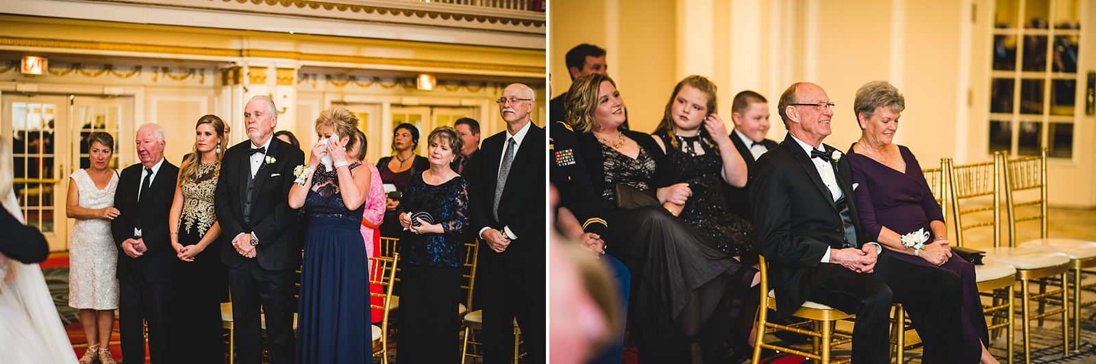 23 parents reactions at wedding - Drake Chicago Luxury Wedding Photography // Kate + Royce