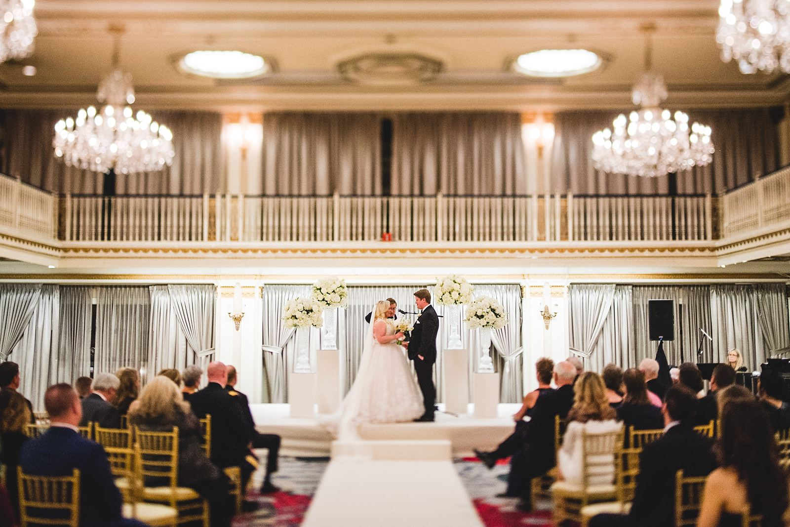 24 drake wedding ceremony - Drake Chicago Luxury Wedding Photography // Kate + Royce