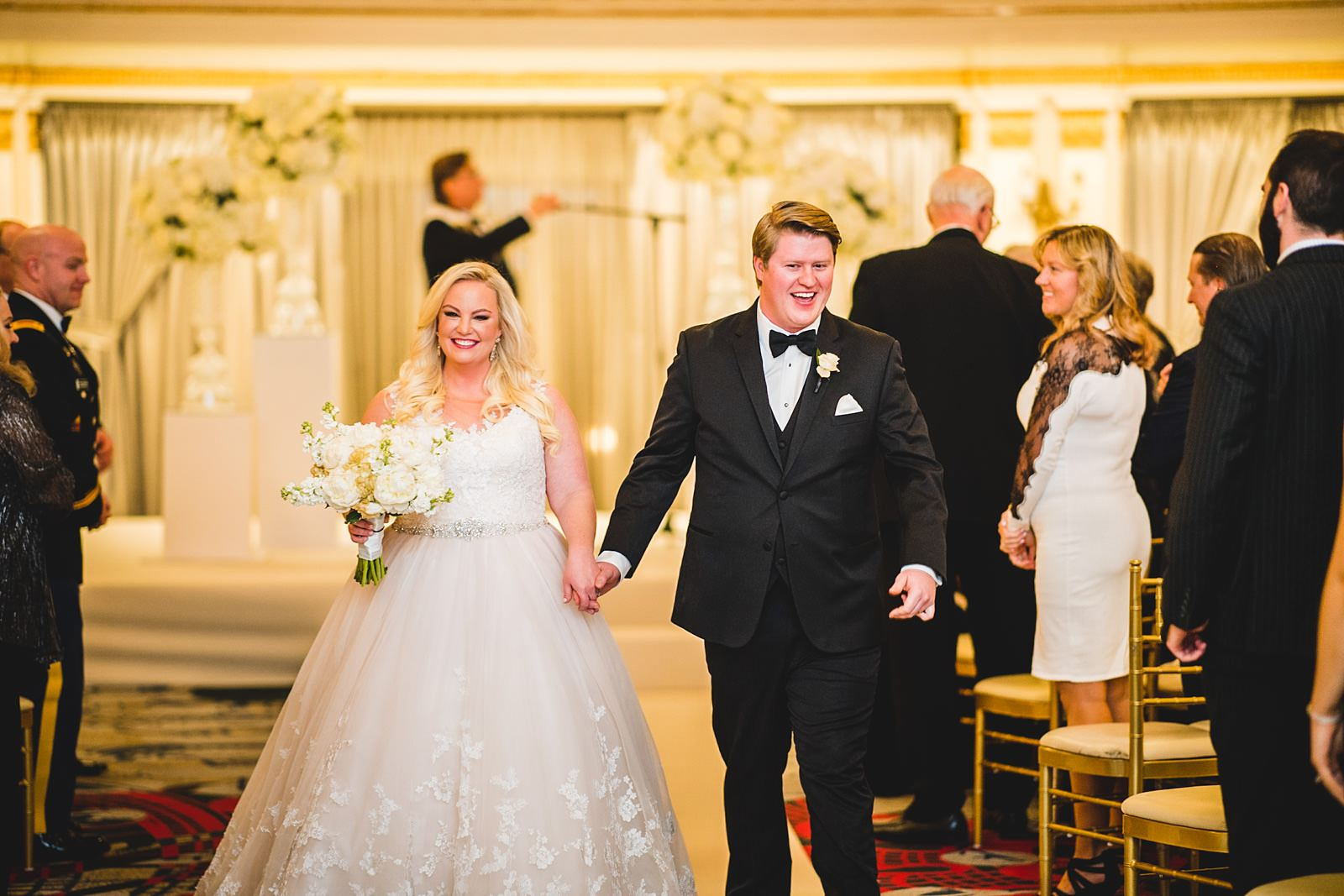 25 happy bride and groom married - Drake Chicago Luxury Wedding Photography // Kate + Royce