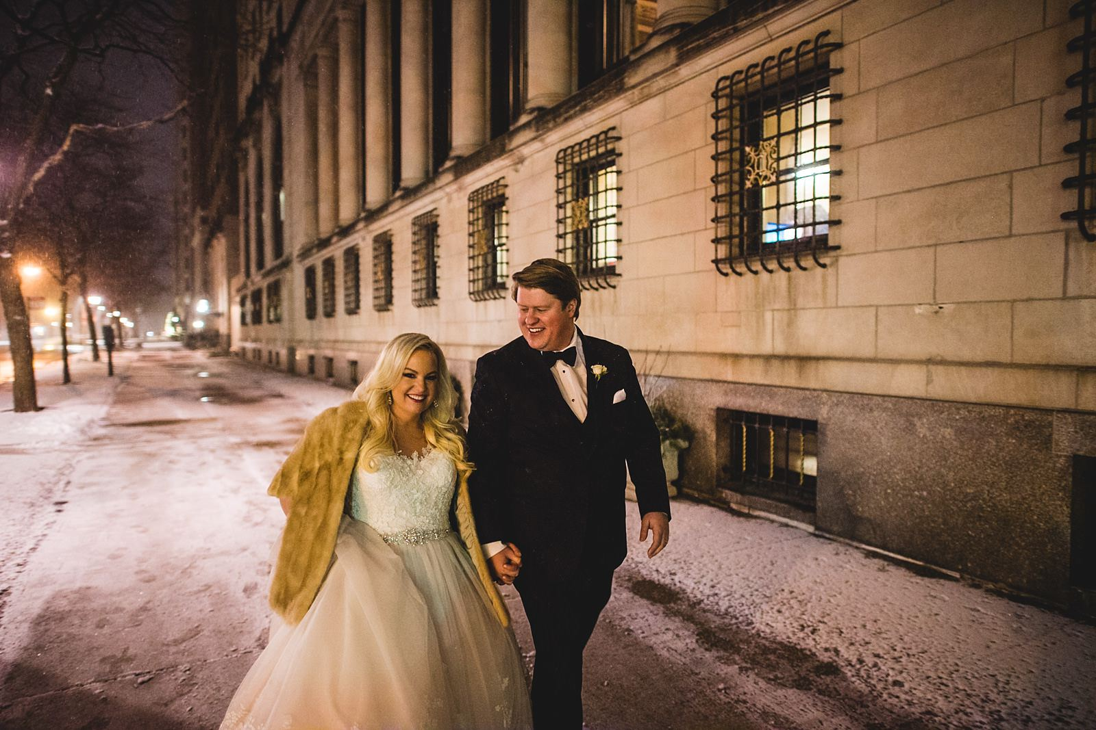 42 cold winter wedding photos in chicago - Drake Chicago Luxury Wedding Photography // Kate + Royce
