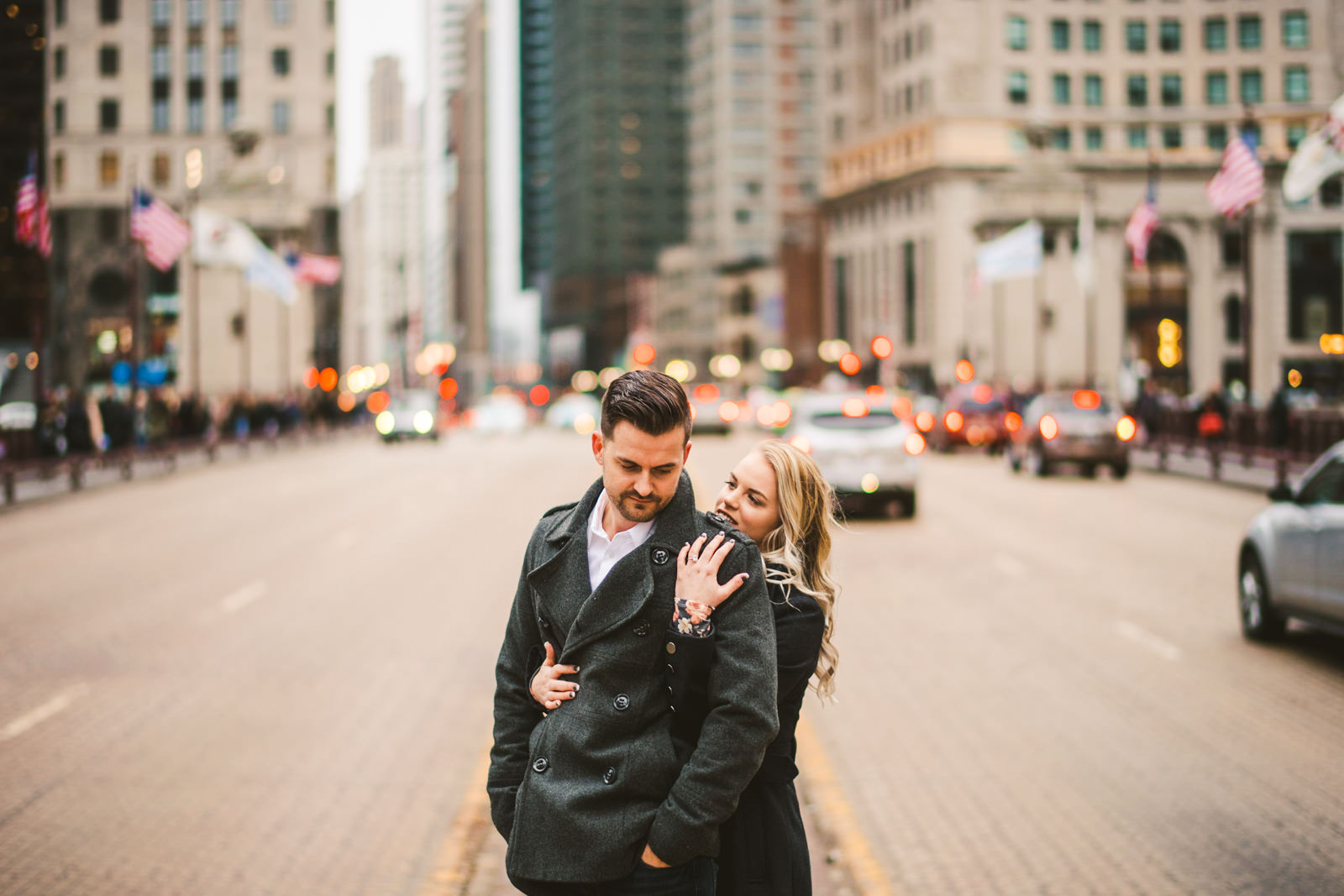 11 best engagement photographers in chicago - Downtown Chicago Engagement \\ Stephanie + Luke