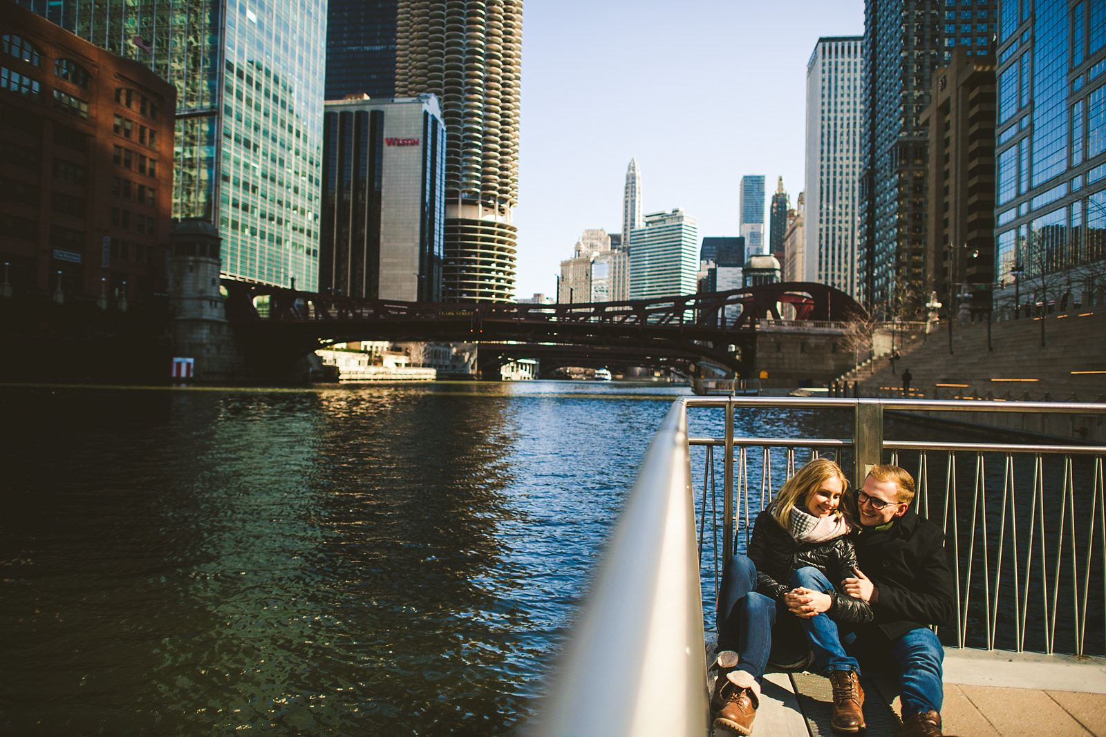 18 chicago riverwalk engagement photos - The Prefect Chicago Proposal // Eva + Vitalij