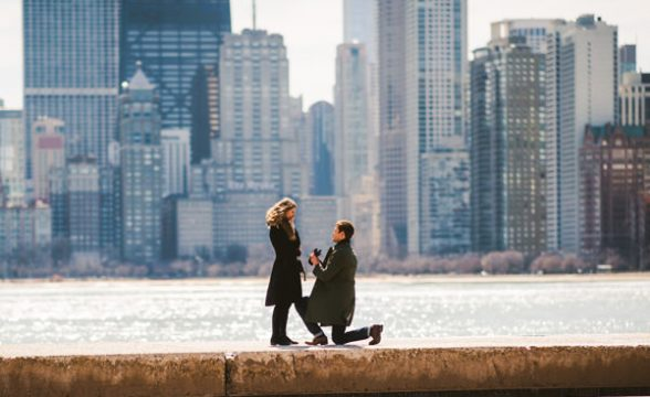 chicago marriage proposal photographer